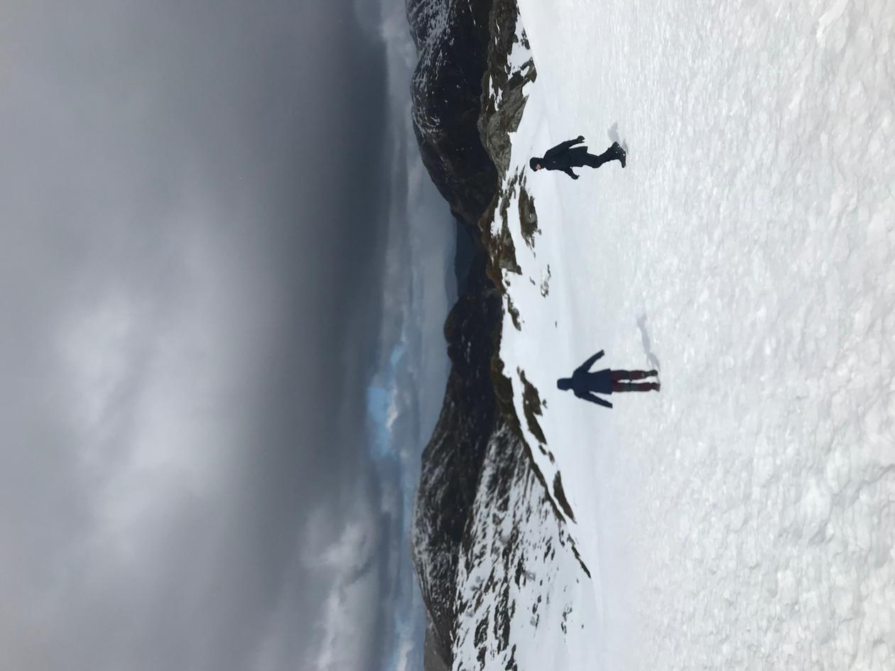people on snow in mountain