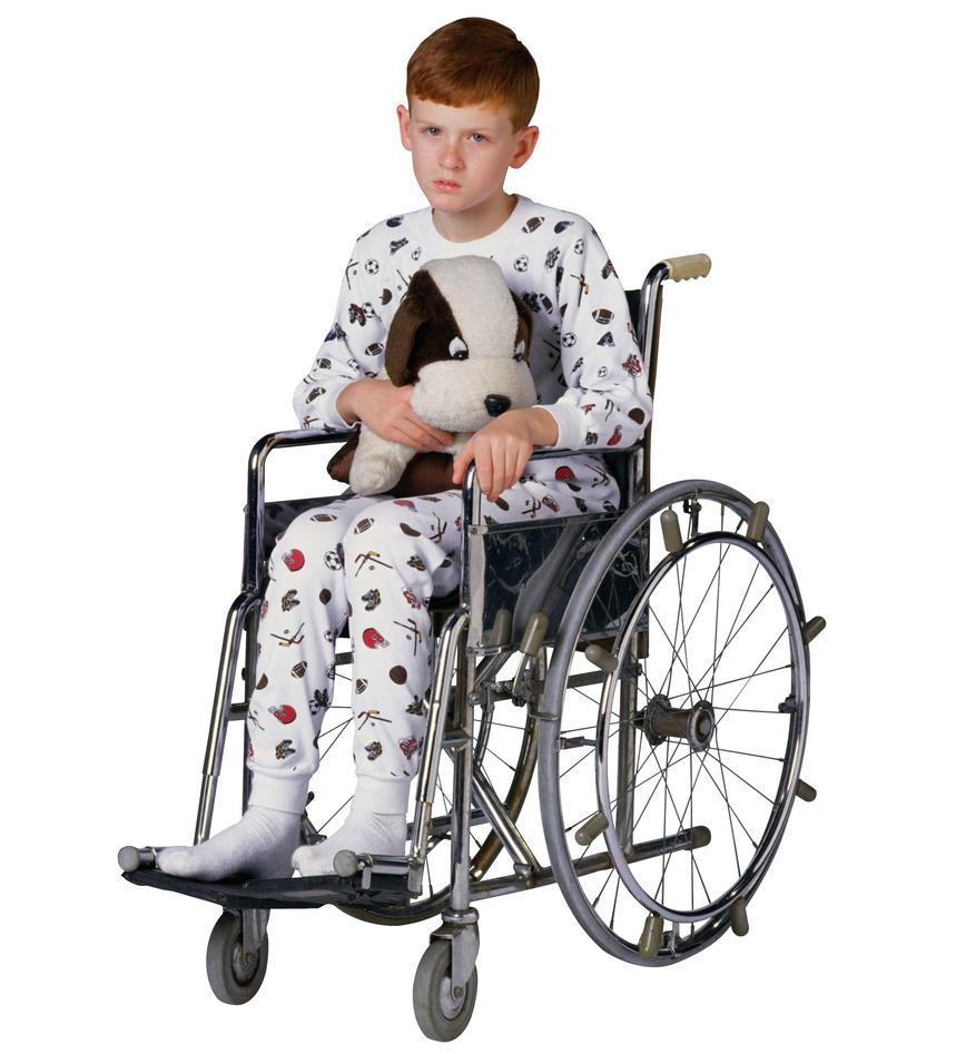 Gutt i rullestol