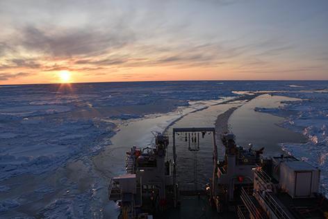 RV Kronprins Haakon in the Arctic.