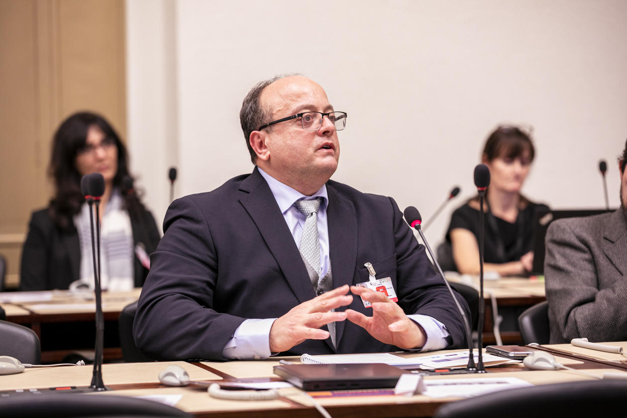 Professor Hakan G. Sicakkan from the University of Bergen speaking at the launch of the UN Global Academic Network of migration experts in Geneva in December 2019.