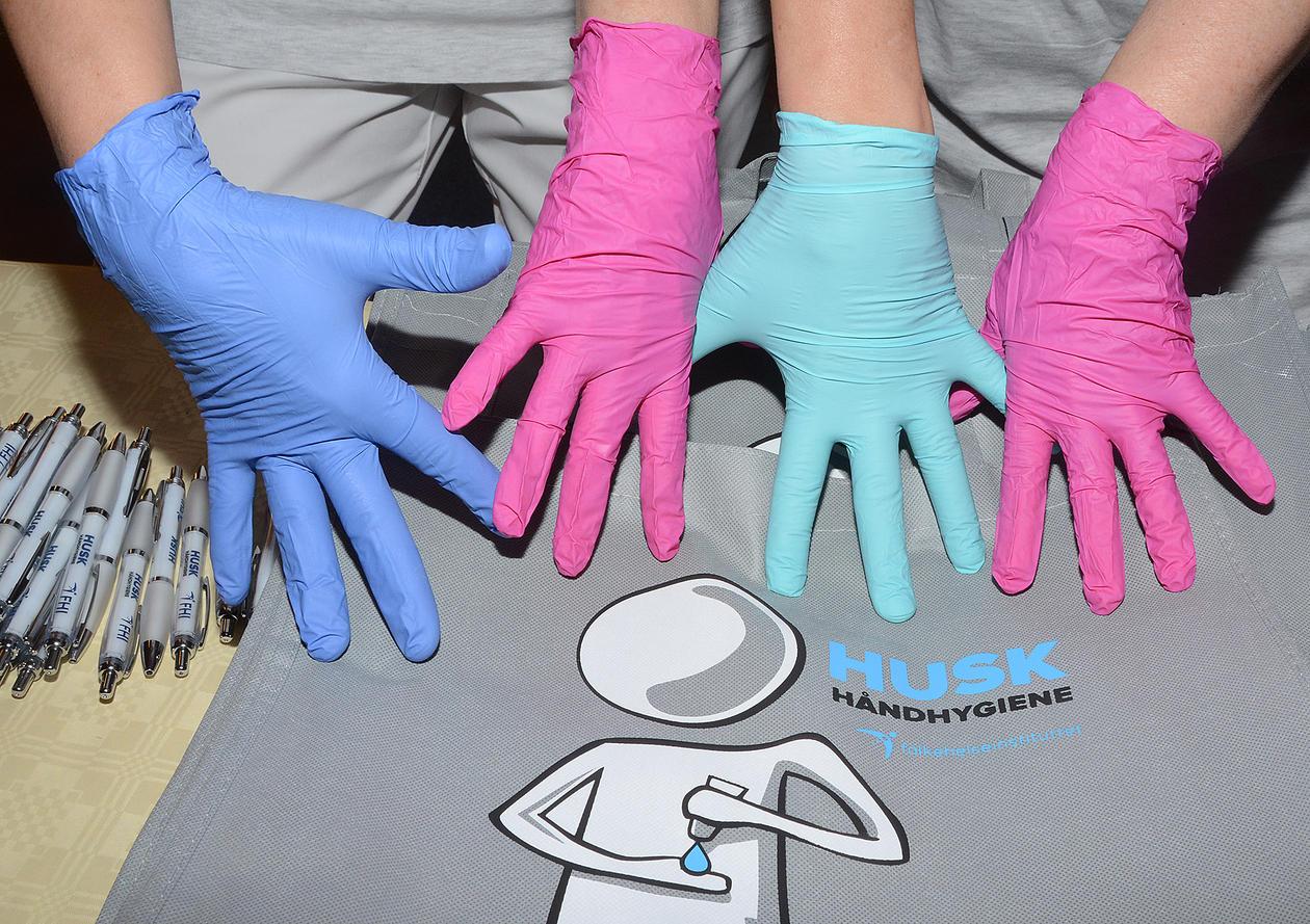 Fargerike hanskehender
