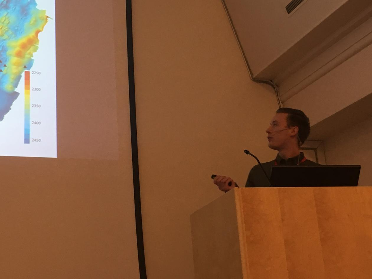 Håvard Stubseid presenting his phd project