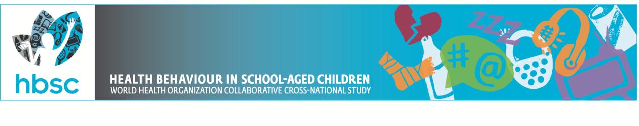 Banner for HBSC - health behaviour in school-aged children