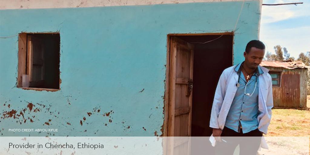 Health worker in Chencha, Ethiopia