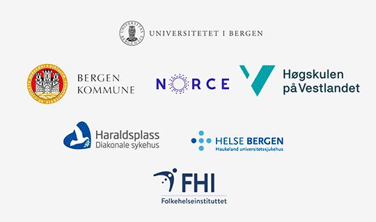 illustrasjon med logoer for alle partnere i helseklyngen