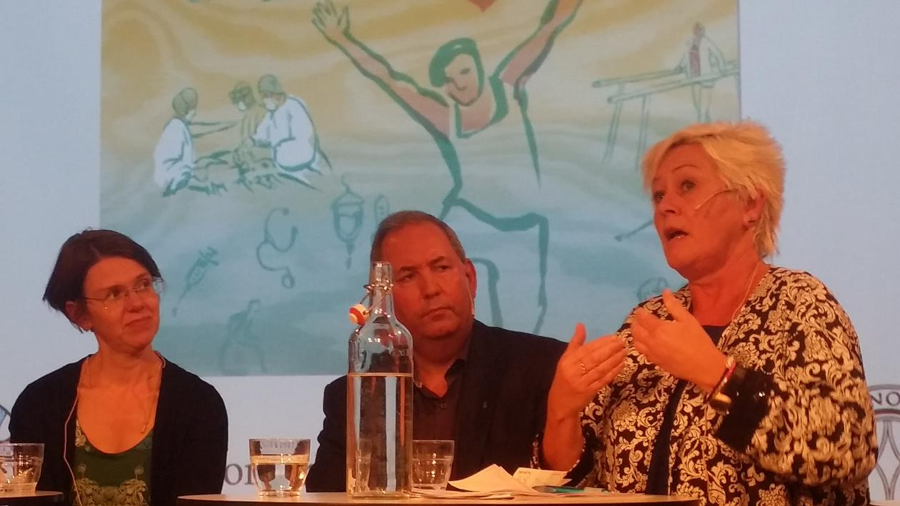 Anne Lise Ryel speaks at a conference.