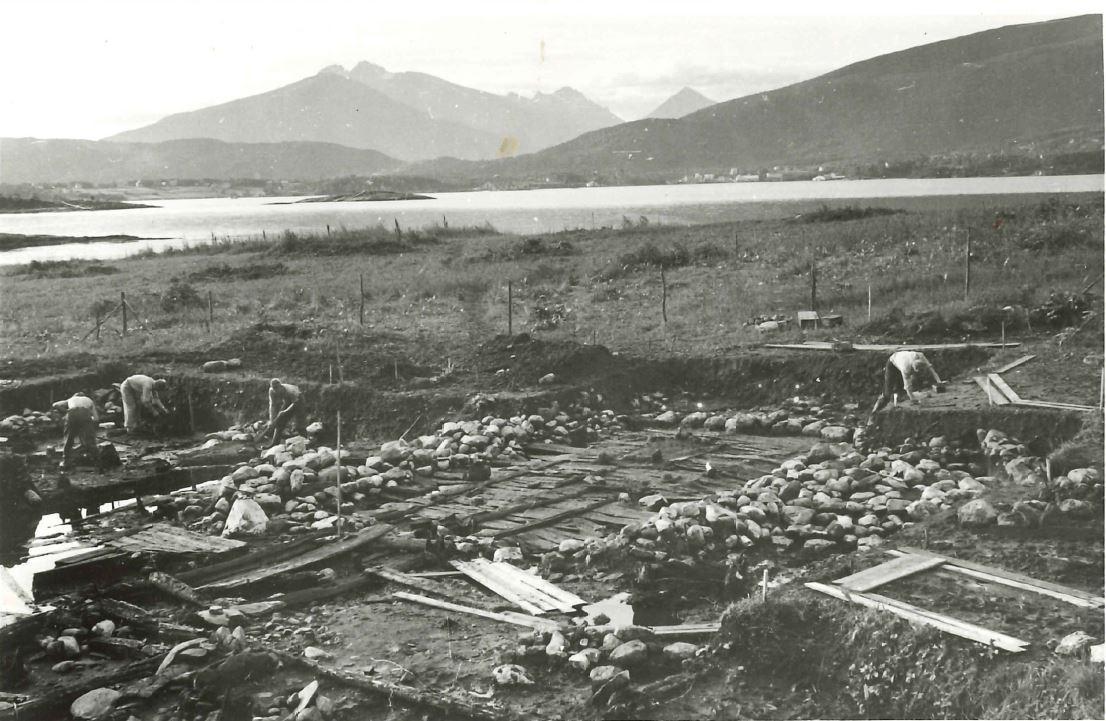 Utgravningsfeltet v Herteig 1954