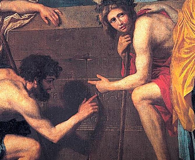 detalj fra klassisk maleri