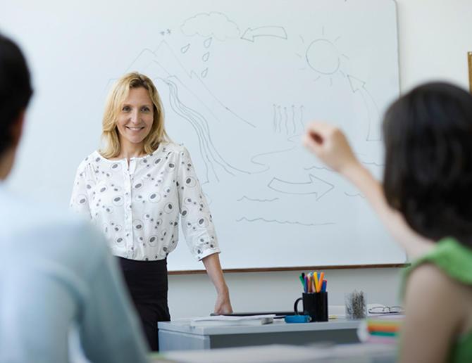 Bilde av undervisningssituasjon