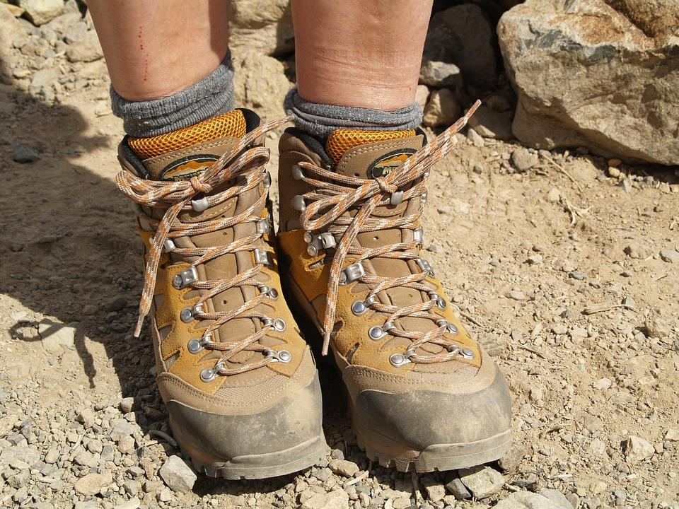 Appropriate hiking boots