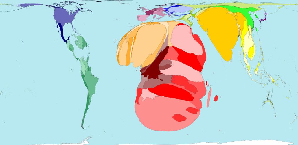 HIV prevalence map