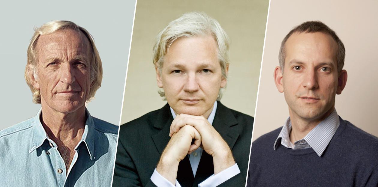 Pilger Assange Haewood