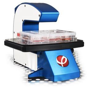 Mikroskop med celledyrkingsskål