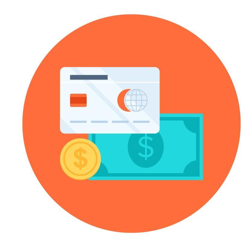 penger og et kredittkort