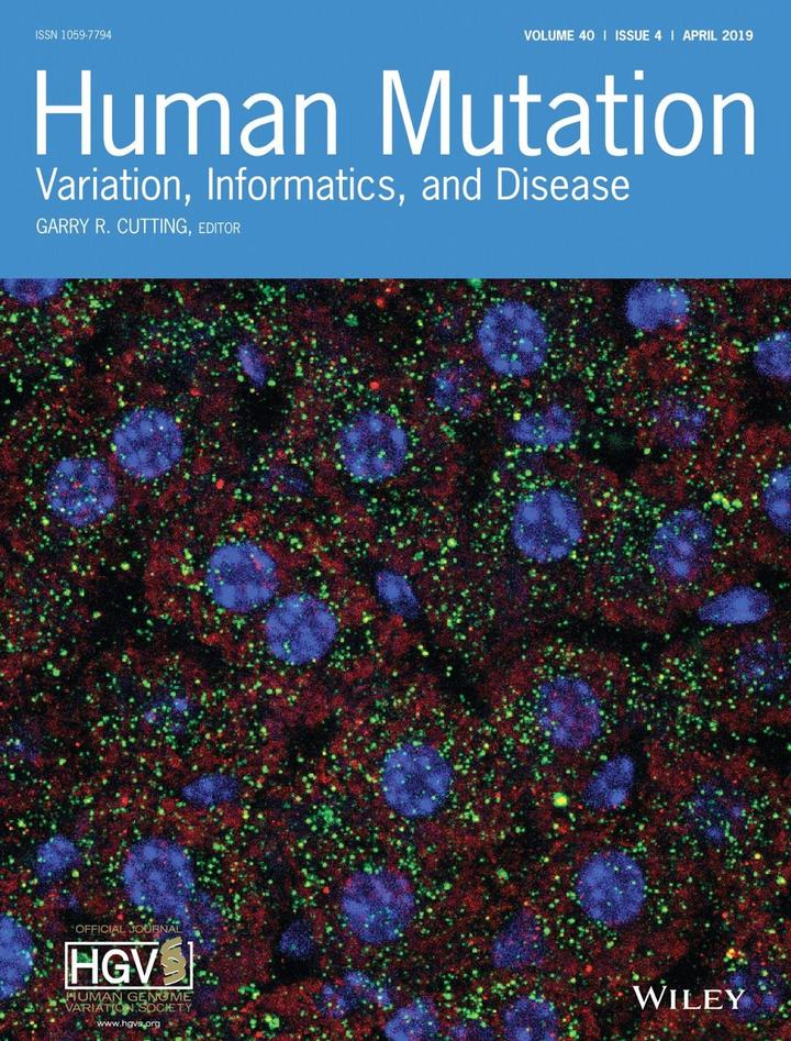 Back cover of April 2019 issue of Human Mutation