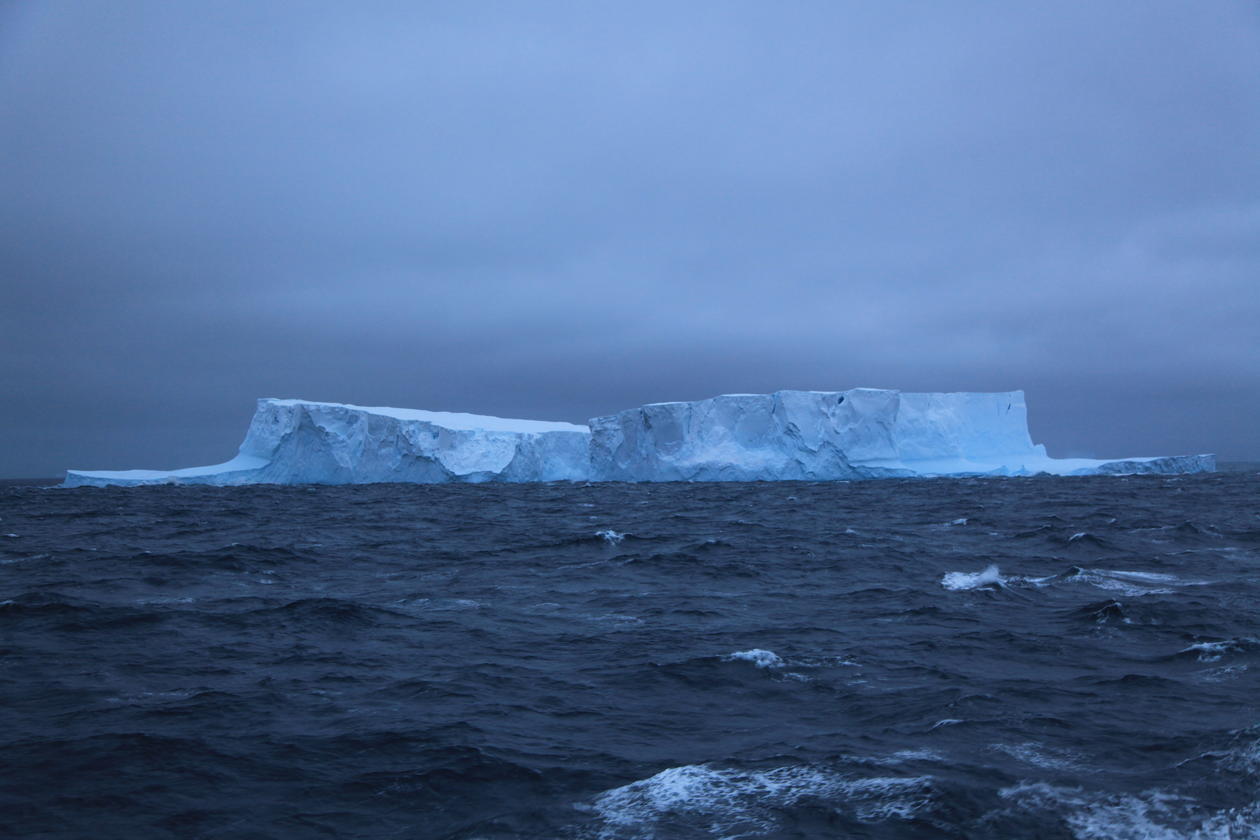 View of Southern Ocean with icebergs