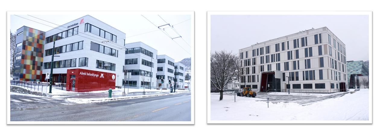 Byggene i Årstadveien 17 og 21. Vinterbilde