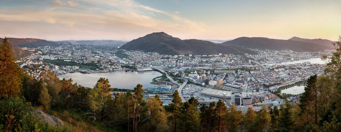 Panoramabilde av Bergen