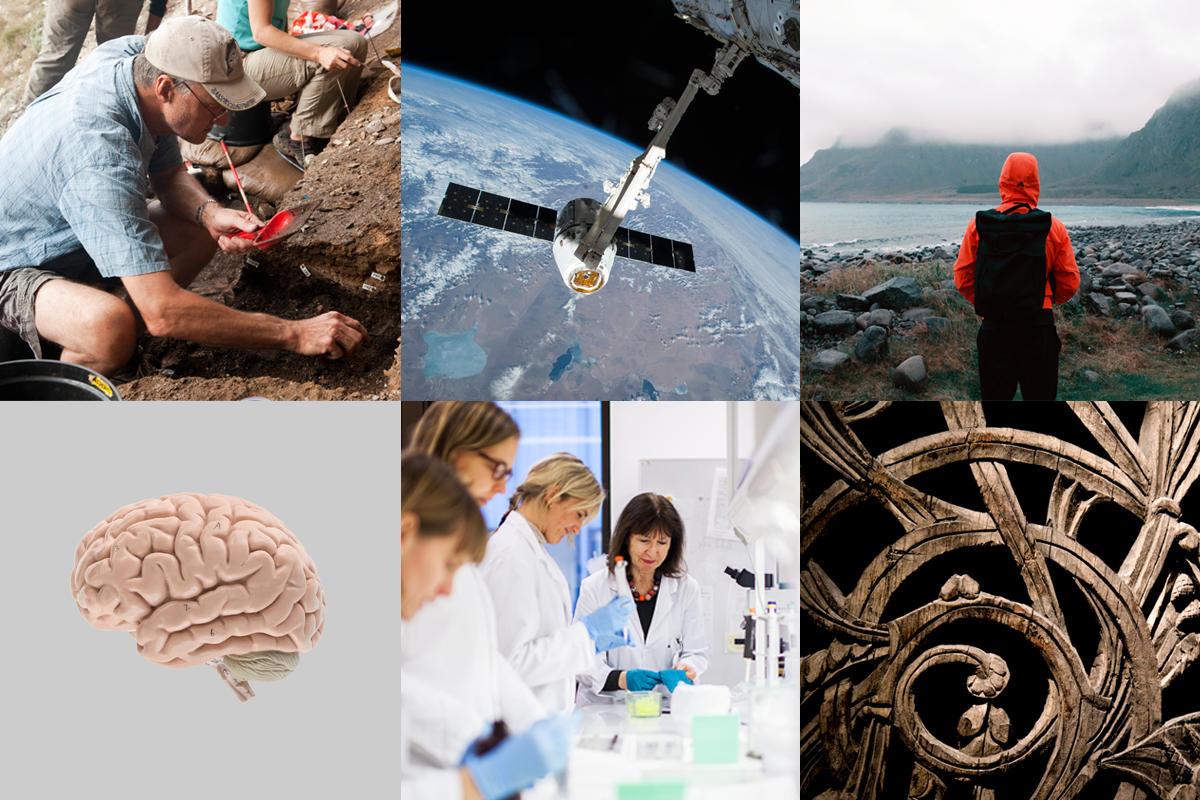 Collage som viser forskning ved UiB