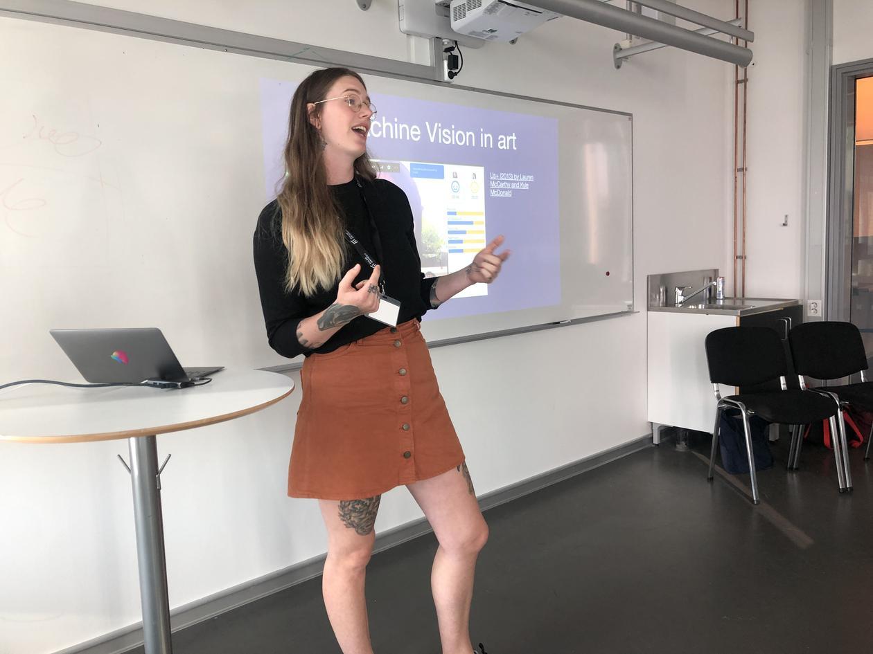 Linn Heidi talking about Machine Vision in art