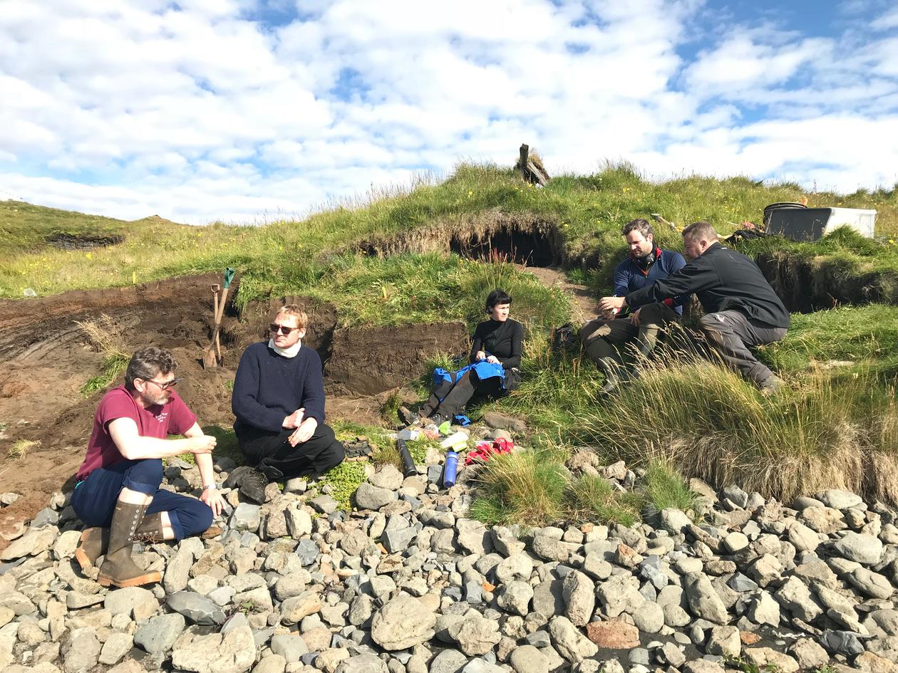 Some of the participants on the Strandir-project, Iceland
