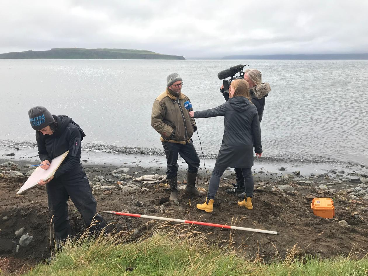 TV-interview at the Strandir-project on Iceland