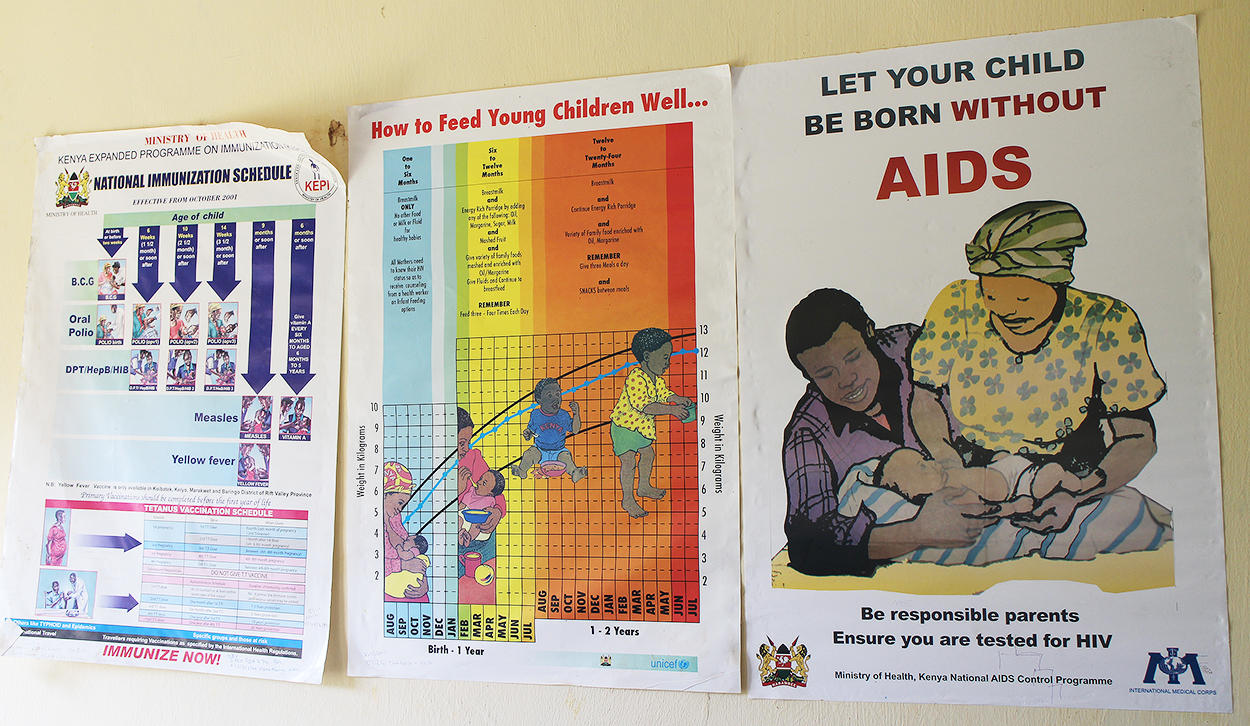 Health Centre information posters 1