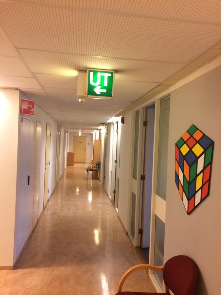 Bilde av gangen til de nye CET lokalene
