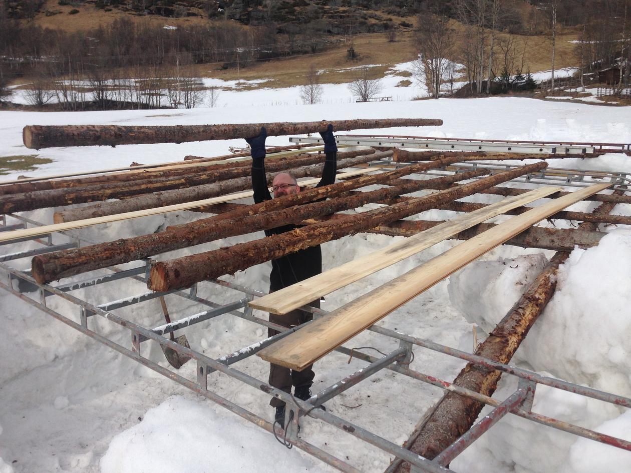 Bygging av kuldekammer
