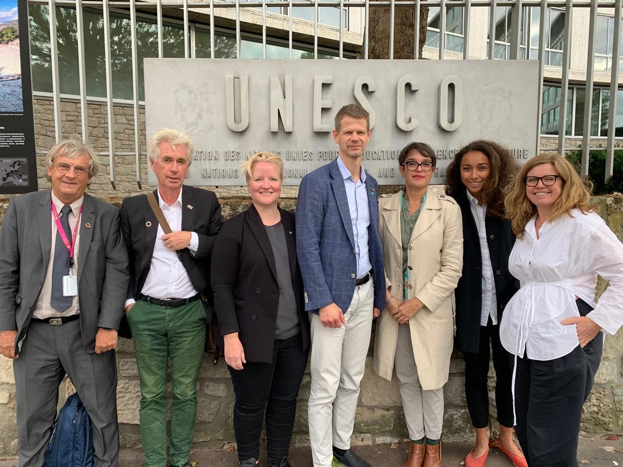 Delegasjonen fra den norske universitetssektoren som besøkte UNESCO i Paris i september 2019.