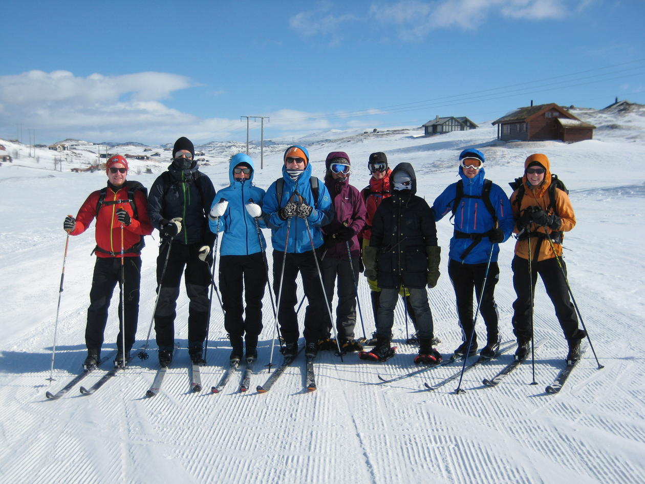 GEOF328 students on a skiing trip