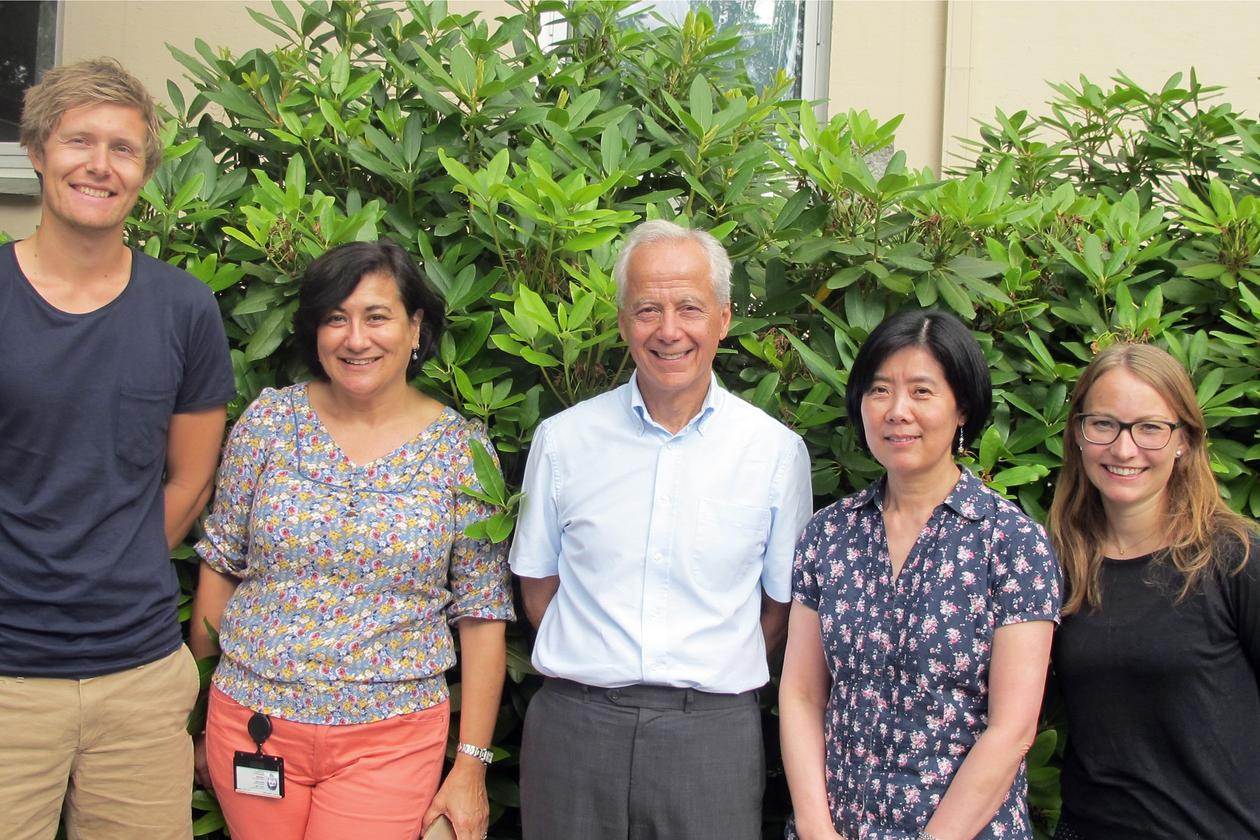 THE RESEARCHERS FROM BERGEN (from the left): Magnus Hole, Aurora Martinez, Laurence Bindoff, Ming Ying and Marte Innselset Flydal.