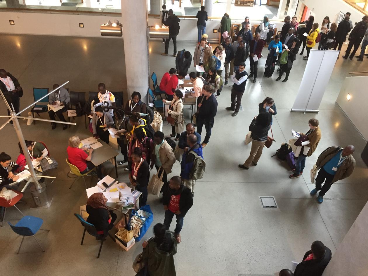 Students registering for summer school