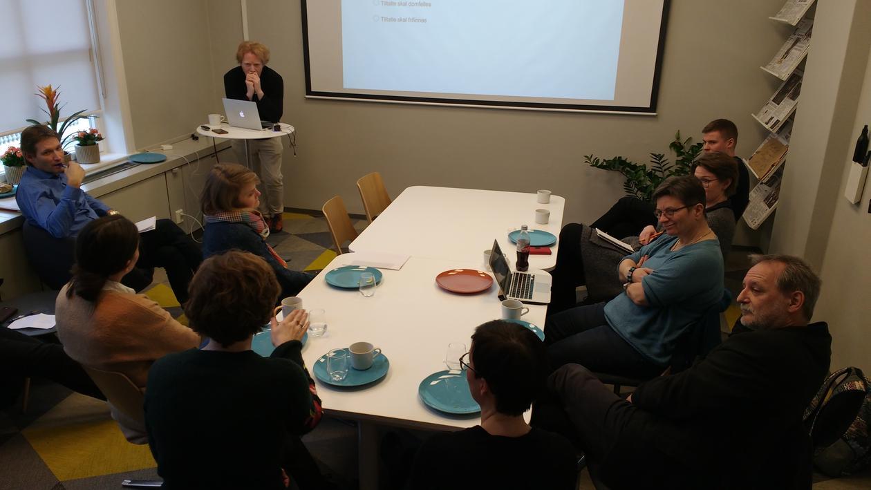 Cornelius presenting at seminar
