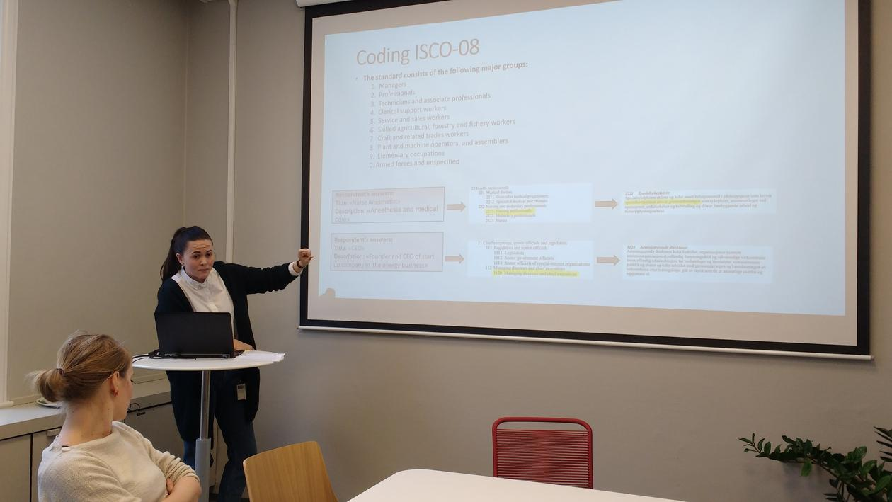 Eidheim presenting
