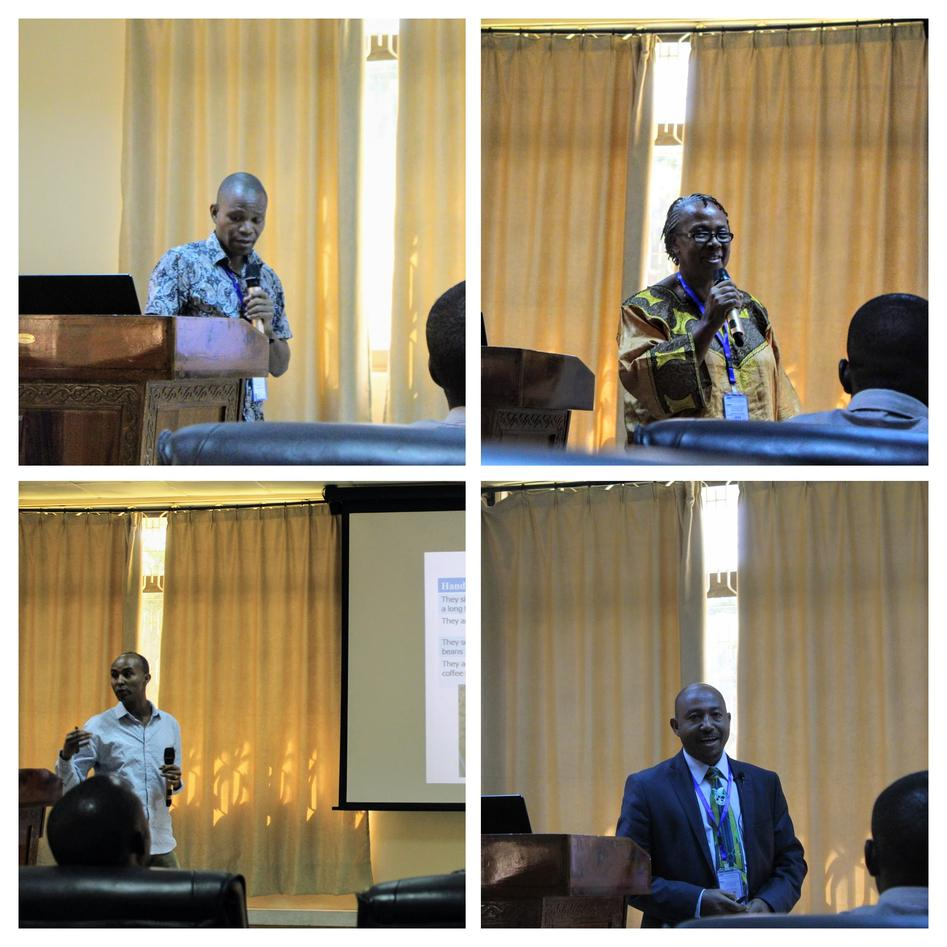 Chair and presenters at the 7th MUHAS scientific conference