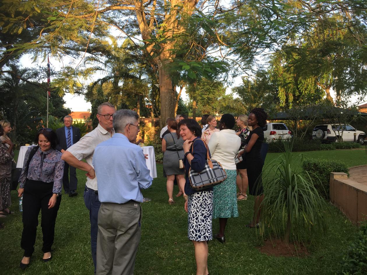Meeting at the Norwegian Embassy, Uganda