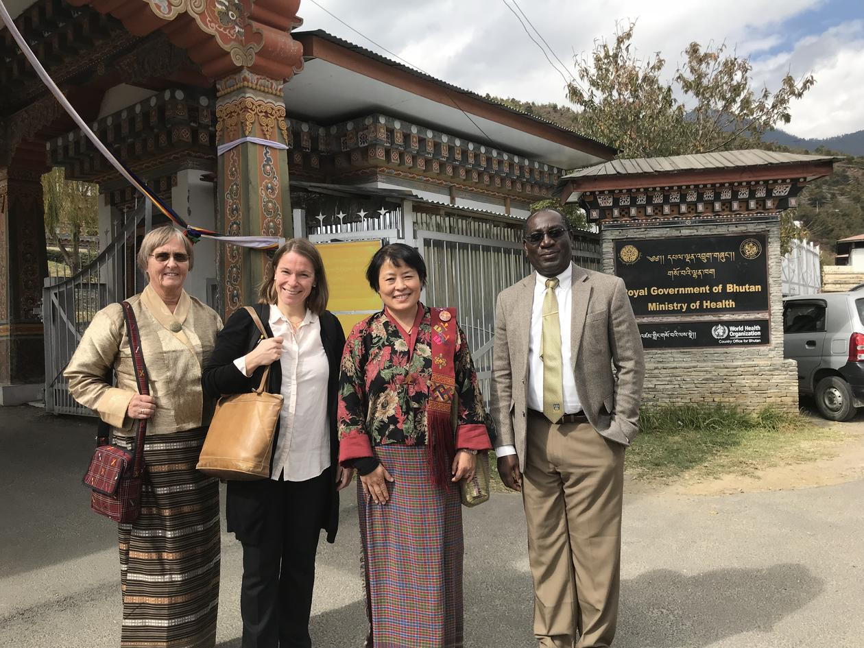 GMHRG-members at discussions with the Ministry of Health, Bhutan