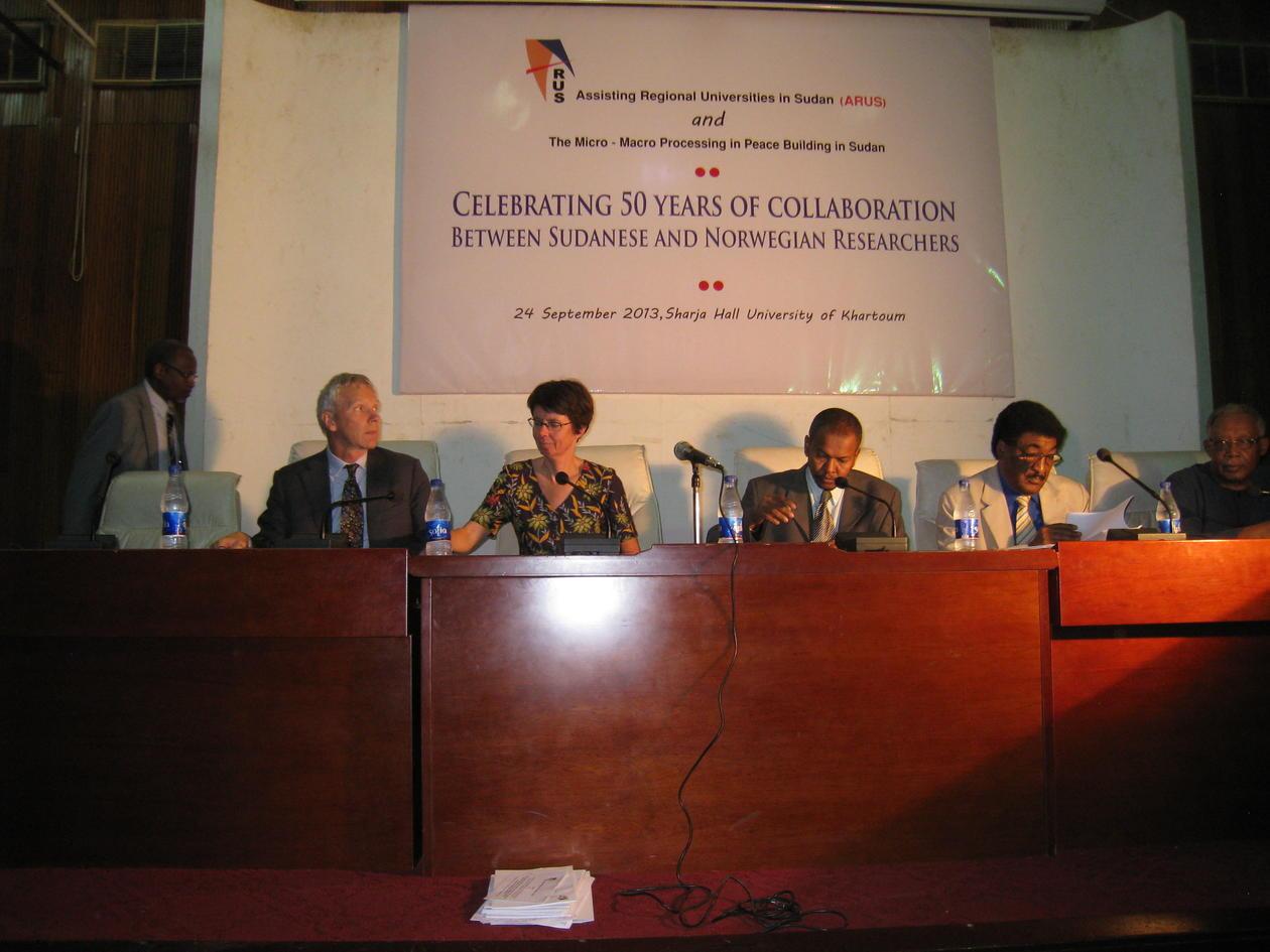 Vice-rector for international affairs, Anne Christine Johannessen, visits Khartoum in September 2013.