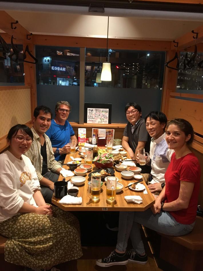 With the Yasunori's Lab members in Tokyo