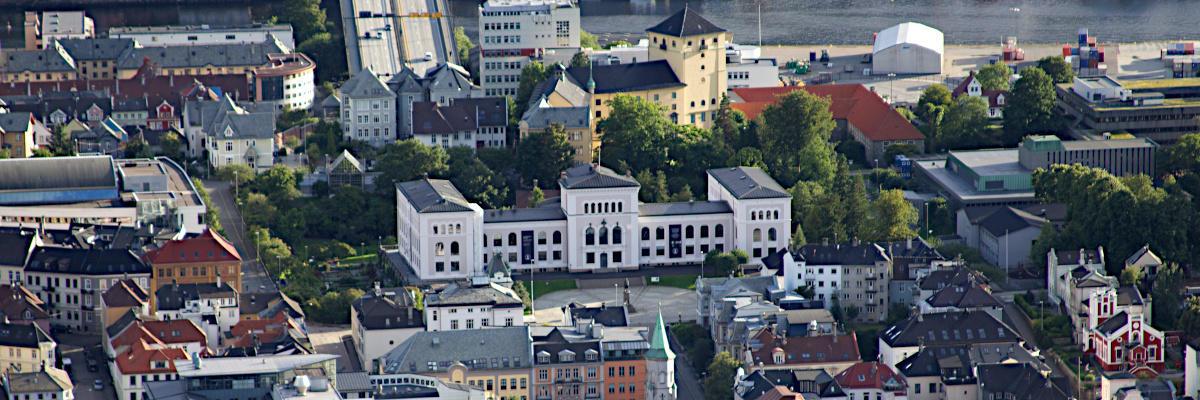 The Museum garden as seen from Fløyen
