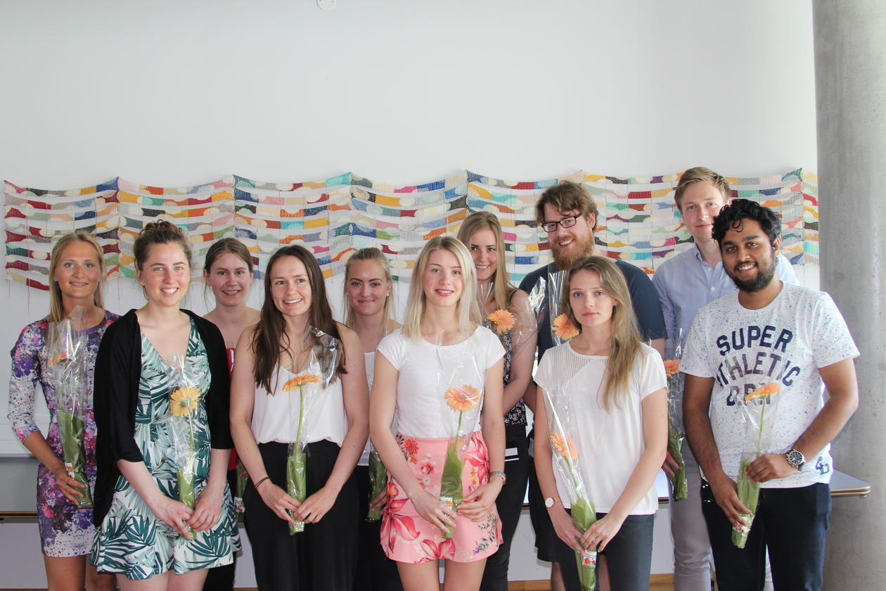 gruppebilde av mastergradsstudenter biomedisin 2018