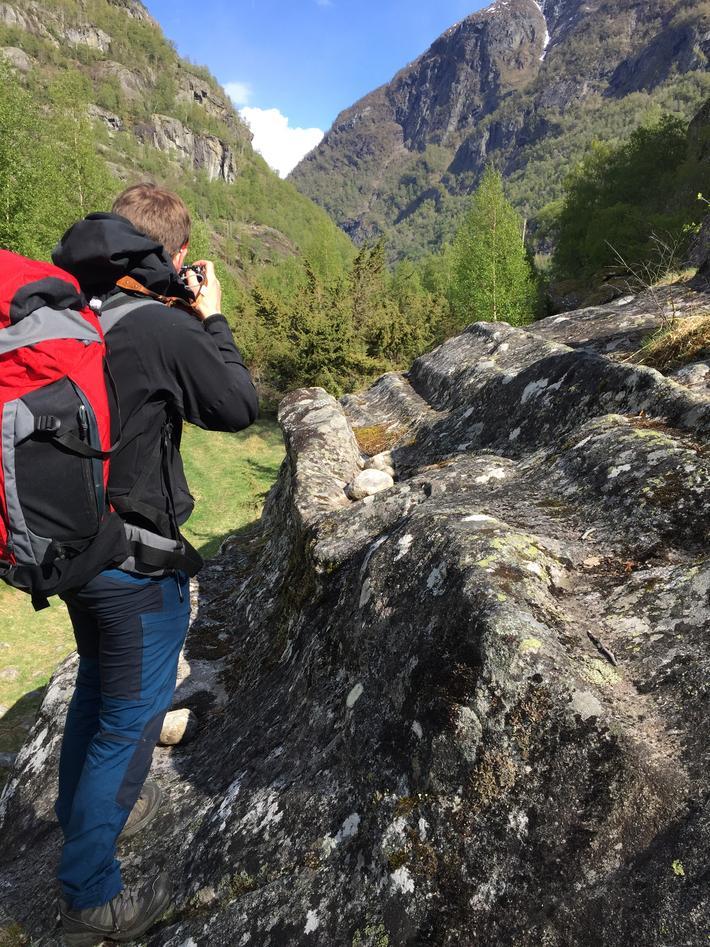 Fotograferer landformer