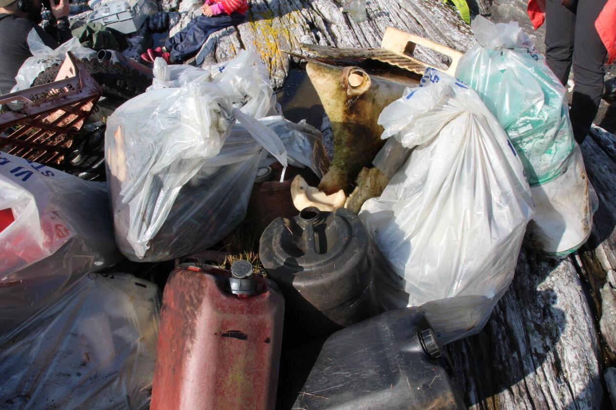 Plasten som ble funnet under strandryddeaksjonen 2020