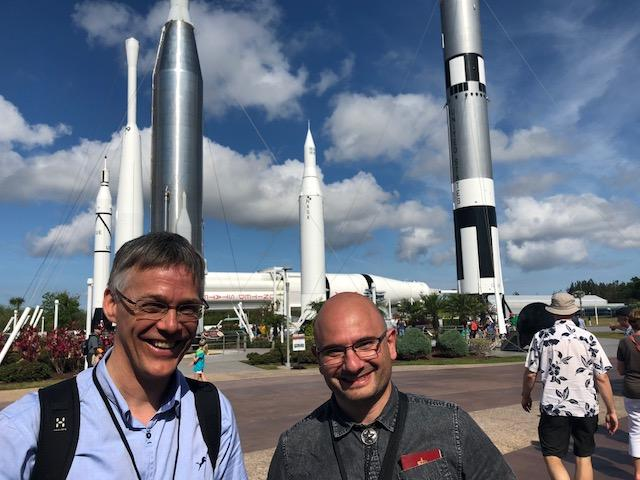 Kjetil Ullaland og Georgi Genov på Kennedy Space Center