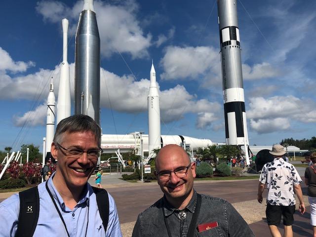 Kjetil Ullaland og Georgi Genov på Kennedy Space Center