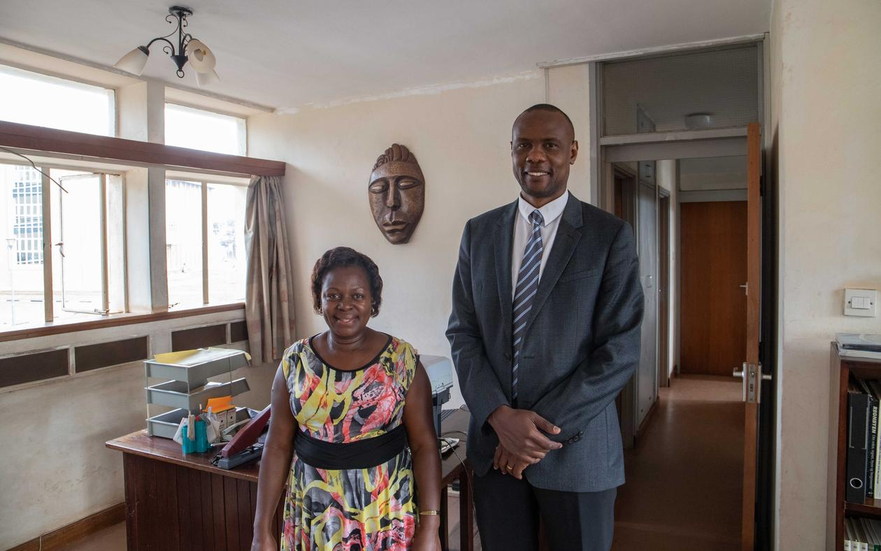Winnie Ndagire and Ronald Semyalo,