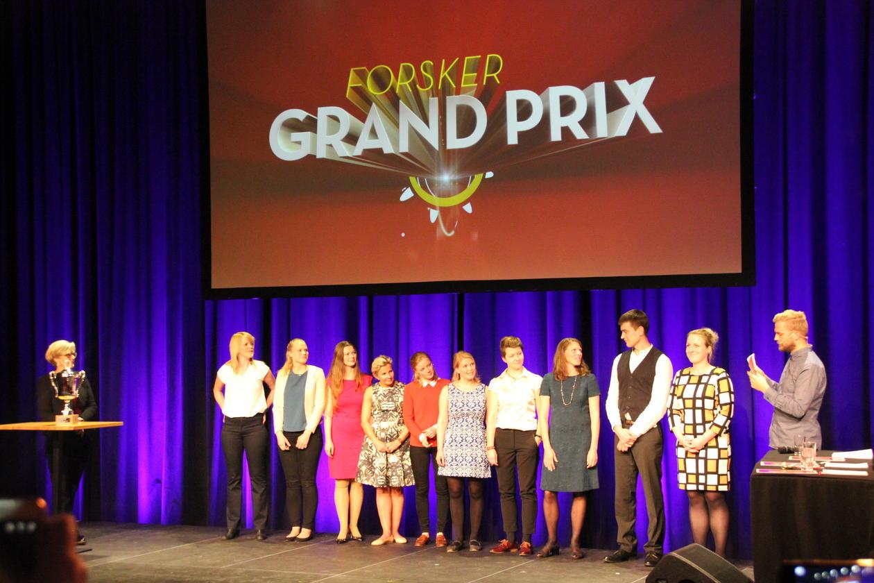 På scenen uner Forsker Grand Prix