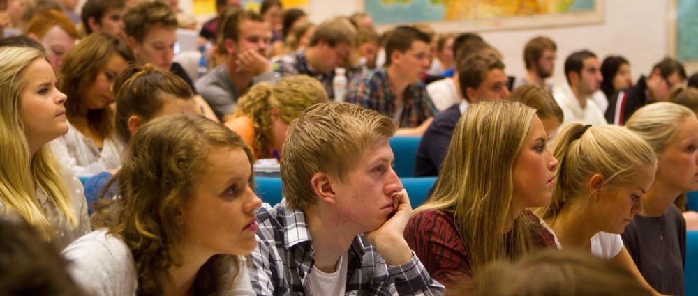Studenter på forelesning.