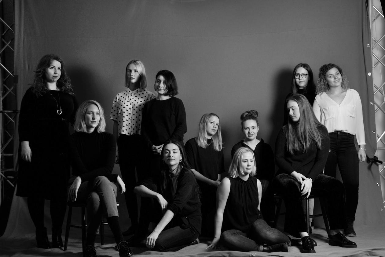 De elleve  bachelorstudentene fra Institutt for design som skal til Stockholm Furniture & Light Fair 2017